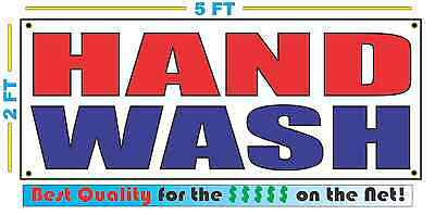HAND WASH Banner Sign NEW Larger Size Best Quality for The $$$ Car (Best Hand Wash Car Wash)