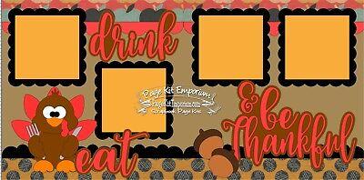 Scrapbook Layout Page Kit Thanksgiving Turkey Thankful Die Cut PKEmporium - Thankful Turkey Craft