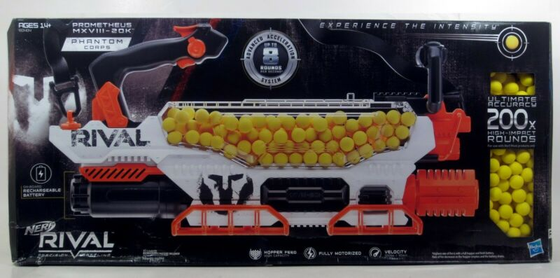 Nerf Rival Prometheus MXVIII-20K Blaster with 200 Rounds - New in Dinged Box