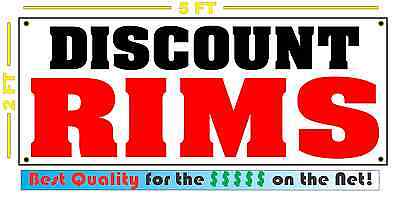 - DISCOUNT RIMS Banner Sign NEW 4 Car Truck SUV Van Repair Tire Shop wheels