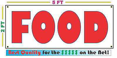 FOOD Full Color Banner Sign NEW XXL Larger Size Best Price on the Net!