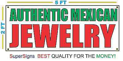 Authentic Mexican Jewelry Banner Sign 100 All Weather New Larger Size