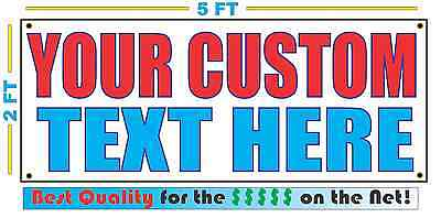 Custom Text 4 Words Banner Sign New 2x5