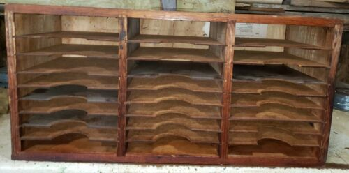"Vintage Wood file storage. 30"" x 12"" 14.5""."