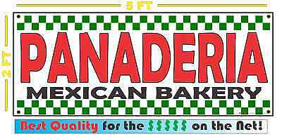 Panaderia Banner Sign New Shop Delivery Restaurant Stand Store Mexican Bakery
