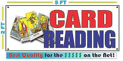 CARD READING Banner Sign NEW Larger Size Best Quality for the $$$ (Best Tarot Card Reading)