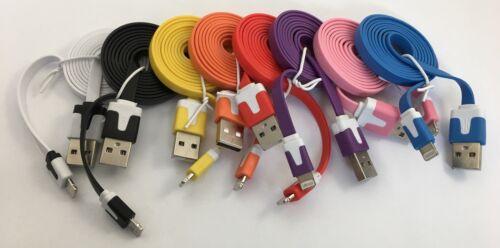 Detalles de CABLE Piso cargador USB iPhone 8 Pines Rayo Apple Para 5 5S 5C SE 6 6S 7 Plus