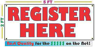 REGISTER HERE Full Color Banner Sign NEW Larger Size Best Price on the Net!