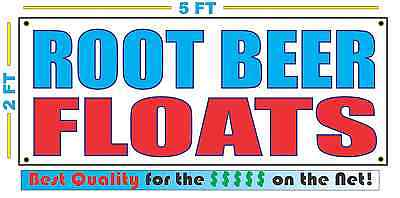 ROOT BEER FLOATS Banner Sign NEW Larger Size Best Quality for The $$$ Fair