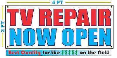 Tv Repair Now Open Banner Sign New L