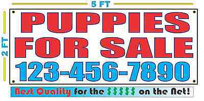 Puppies For Sale W Custom Phone Banner Sign New Size Best Quality For The