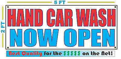 HAND CAR WASH NOW OPEN Banner Sign NEW Larger Size Best Quality for the (Best Hand Wash Car Wash)