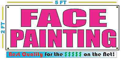 Pink FACE PAINTING 2X5 Banner Sign NEW Size Best Quality for The