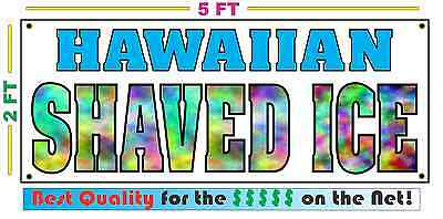 Hawaiian Shaved Ice All Weather Banner Sign Xl Size Snocone Snow Cones Sno