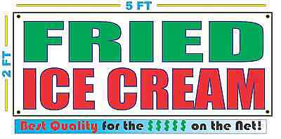 FRIED ICE CREAM Banner Sign NEW Larger Size Best Quality for the