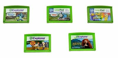 Lot of 5 LeapFrog Explorer LeapPad Games Boys(Pencil,Thomas,Monsters,Brave,F&F)