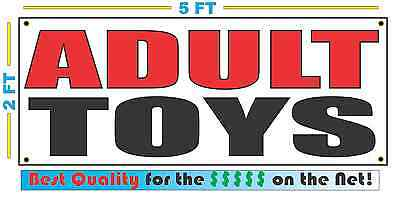 ADULT TOYS Banner Sign NEW XXL Size Best Quality for the $$$$ Sex Novelty