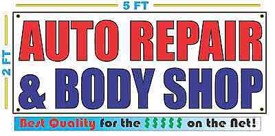 AUTO REPAIR & BODY SHOP Banner Sign NEW Larger Size Best Quality for The (Best Auto Body Repair)