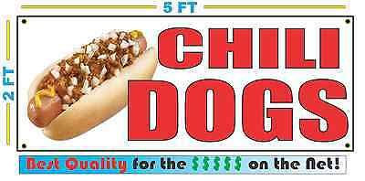 Full Color Chili Dogs Banner Sign New Xl Size Best Quality For The