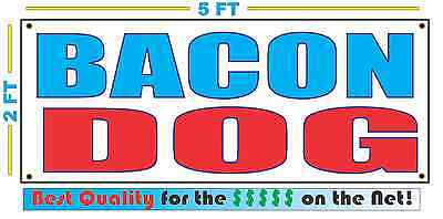 BACON DOG Banner Sign NEW Larger Size Best Quality for The $$$ Fair Food