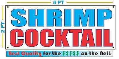 SHRIMP COCKTAIL Banner Sign NEW Larger Size Best Quality for The $$$ Fair (Best Size Shrimp For Shrimp Cocktail)