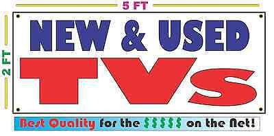 NEW AND USED TVs Banner Sign NEW Larger Size Best Price for The $$$$$ Pawn (Best Banner And Sign)