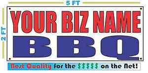 CUSTOM NAME BBQ Banner Sign NEW