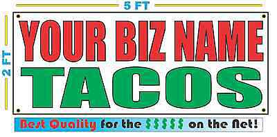 Custom Name Tacos Banner Sign New Larger Size Best Quality For The