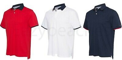 TOMMY HILFIGER  Sanders Tipped Cotton Pique Sport Shirt, NEW Men's Polo