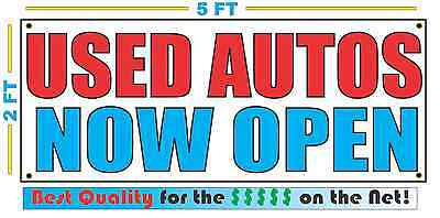 Used Autos Now Open Banner Sign
