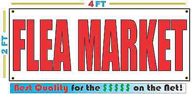 2x4 FLEA MARKET Banner Sign NEW Discount Size - Best Quality for The