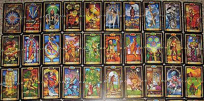 Ciro Marchetti Gilded Tarot Deck 78 Cards Complete Occult Fortune No Box