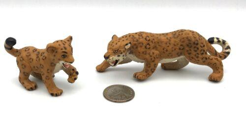 Safari Ltd JAGUAR & CUB Leopard Female Spotted Cat Animal Figure 1996