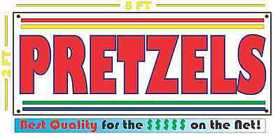 Pretzels Sign New Larger Size For Fair Carnival Stand Cart French Fries