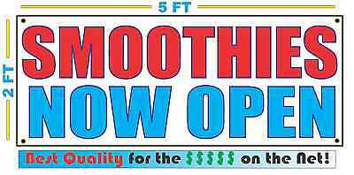 Smoothies Now Open Banner Sign New 2x5