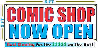Comic Shop Now Open Banner Sign New Larger Size Best Quality For The