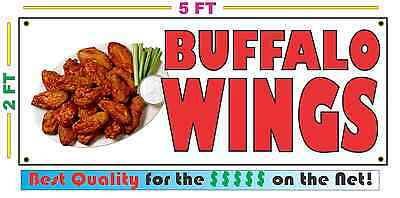 Full Color BUFFALO WINGS BANNER Sign Larger Size Best Quality for the $ Chicken (The Best Chicken Wings)