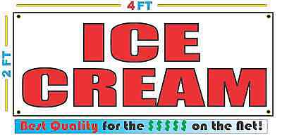 2x4 ICE CREAM Banner Sign NEW Discount Size - Best Quality for The