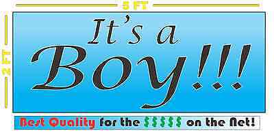 IT'S A BOY Full Color Banner Sign Coming Home Yard Baby Shower - Baby Shower Yard Sign
