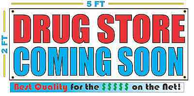 DRUG STORE COMING SOON Banner Sign NEW Larger Size Best Quality for the (Best Storage For Vinyl)