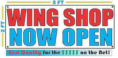 Wing Shop Now Open Banner Sign New