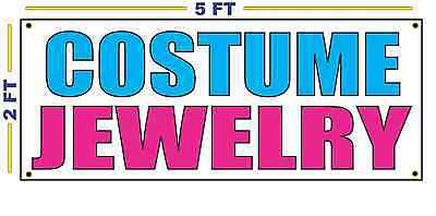 Costume Jewelry Banner Sign For Resale Shop Or Clothes Store