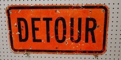 Used  Detour Or End Sign  12 X  Flat Al Black  Orange   Please Email Choice