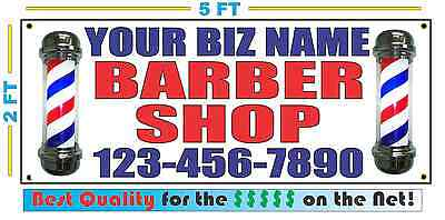 Custom Barber Shop Banner Sign W Full Color Pole Best Quality For The
