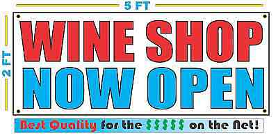 Wine Shop Now Open Banner Sign New