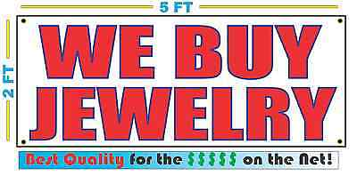 We Buy Jewelry Banner Sign New