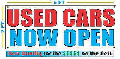 Used Cars Now Open Banner Sign New