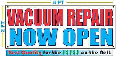 Vacuum Repair Now Open Banner Sign New
