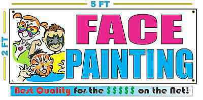 Full Color FACE PAINTING w/ pic Banner Sign NEW Larger Size Best Quality