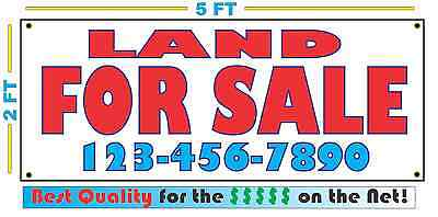 Land For Sale W Phone Banner Sign Custom Phone Number New Larger Size
